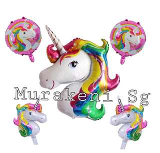 Unicorn 5pcs balloon set Colorful