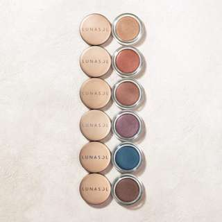 ALL 6 SHADES Lunasol Shimmer Colour Eyes cream eyeshadow
