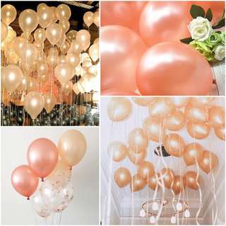 12' inch 3.2g 20pcs Thicken Rose Gold / Champagne Color Balloon Pearl Latex