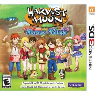 [NEW NOT USED] 3DS Harvest Moon: Skytree Village Nintendo Natsume Simulation Games