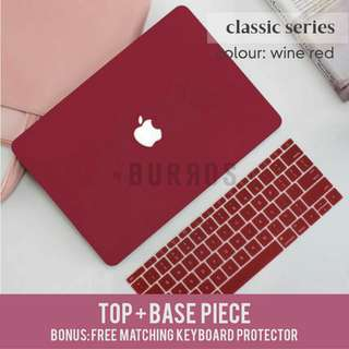📣INSTOCKS📣 Wine Red Macbook Apple Laptop Hard Shell Case Protector available for all models