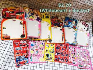 🌈 NEW PACKAGE!! WHITEBOARD WITH STICKERS SET
