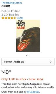 🚚 The Rolling Stones Grrr! 3CD Deluxe Edition