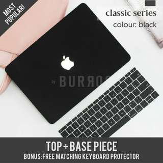 📣INSTOCKS📣Black Macbook Laptop Hard Shell Case Protector avaialble for all models