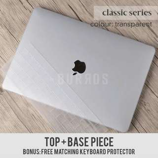 Transparent Macbook Laptop Apple Hard Shell Case Protector available for all models