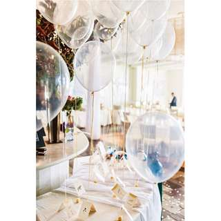 12' inch 2.8g Thicken Transparent Pearl Latex Balloon Party Event Deco 20pcs