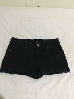 F21 denim black shorts