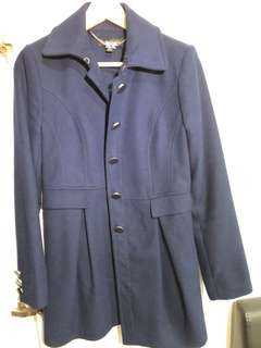 Forever New AUS 10 navy wool coat