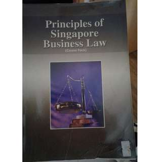 Principles of Singapore Business Law (course pack) – 2 editions – SGD 8 for both