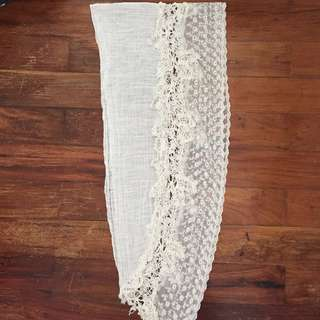 White Embroidery Scarf