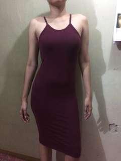 Bodycon plain dress
