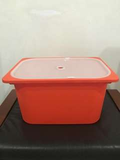 Ikea Trofast orange storage box with cover