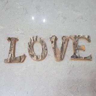 Love wooden decoration/sign (wedding/table diaplay)