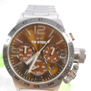 FREE SHIP TW STEEL CB23 CANTEEN BROWN DIAL CHRONOGRAPH WATCH