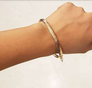 14k Rosegold Bangle ❤️BIG SALE P21k ONLY❤️ Swipe for detailed pics  Cash/card/layaway accepted