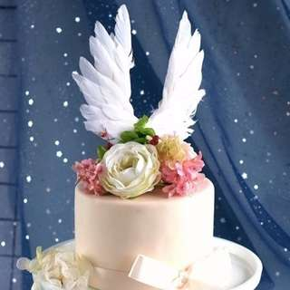WINGS CAKE TOPPER - FEATHER WINGS