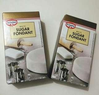 北歐品牌Dr.Oetker white sugar fondant 250g x2盒 翻糖