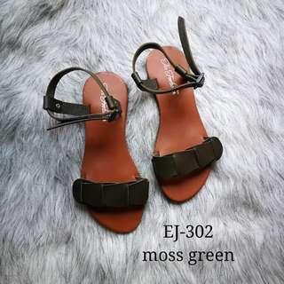 EJ302 Moss Green | Marikina Sandals