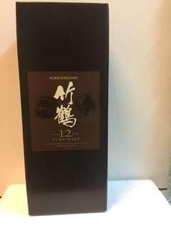 日本日華 竹鶴12年純麥威士忌 700ml 12years  Nikka TAKETSURU Whisky