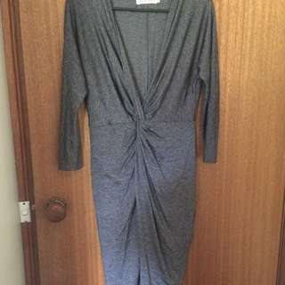 Fresh Soul Size 12 Grey Fitted Dress