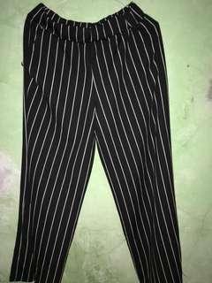 Celana kulot strip