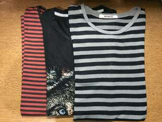 T-shirt katun stripes
