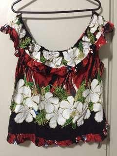 Off shoulder floral