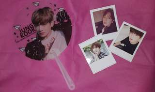 BTS Jungkook Fan with Freebies