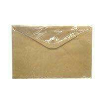 brown envelope with plastic
