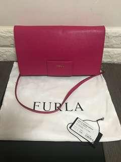全新Furla桃紅shoulder handbag