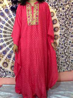 pink kaftan by accent
