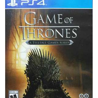 Used Playstation 4 PS4 Game of Thrones Region All (NEAREST MRT)