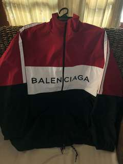 Balenciaga Red Tracksuit jacket.