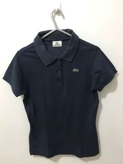 AUTHENTIC Lacoste Navy Blue Polo