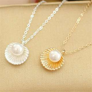 Elegant Pearl Shell Necklace
