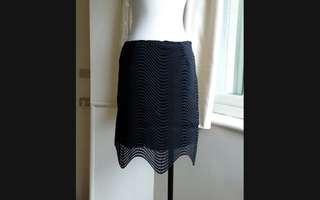 🚚 日韓精品 暗黑 波浪織紋縷空造型裙