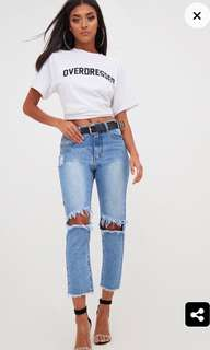 Size 6 ripped blue jeans