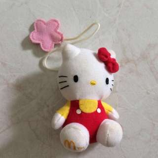 Hello Kitty macdonalds limited edition bookmark with stuffed toy