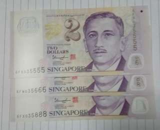 President Face SGD2 note.