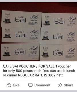 Vouchers for sale (Bai hotel cebu)
