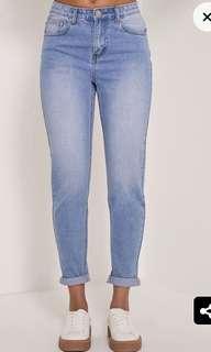 Straight leg mom jeans size 8
