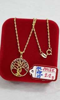 Pure gold necklace for women