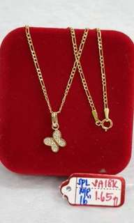 1.65g gold necklace for women