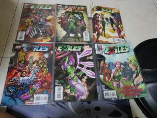 Authentic exiles marvel comic