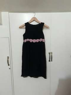 Black with Roses Accent Party Dress