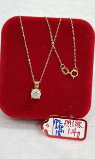 1.4g saudi gold necklace for women