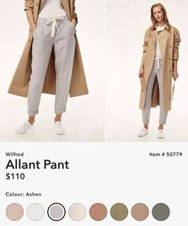 Wilfred Light Grey Allant Pant Size 2 Linen