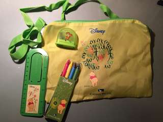 Disney Hand bag with stationery