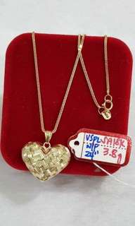 3.8g gold necklace for women