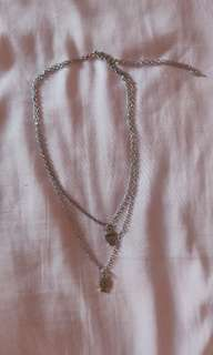 Silver Skull Layered Necklace